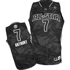 Maillot Authentic New York Knicks NBA 2013 All Star Noir - #7 Carmelo Anthony - Homme