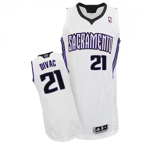 Maillot NBA Authentic Vlade Divac #21 Sacramento Kings Home Blanc - Homme