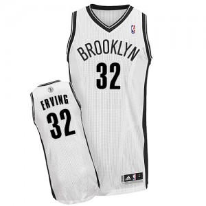 Brooklyn Nets #32 Adidas Home Blanc Authentic Maillot d'équipe de NBA en soldes - Julius Erving pour Homme