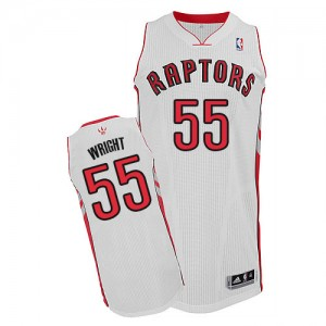 Maillot NBA Authentic Delon Wright #55 Toronto Raptors Home Blanc - Homme