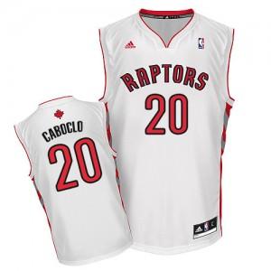 Toronto Raptors #20 Adidas Home Blanc Swingman Maillot d'équipe de NBA prix d'usine en ligne - Bruno Caboclo pour Homme