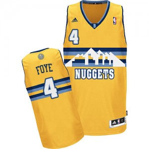 Denver Nuggets Randy Foye #4 Alternate Swingman Maillot d'équipe de NBA - Or pour Homme