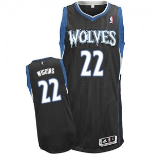 Maillot Authentic Minnesota Timberwolves NBA Alternate Noir - #22 Andrew Wiggins - Homme