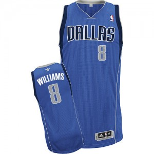 Maillot NBA Bleu royal Deron Williams #8 Dallas Mavericks Road Authentic Femme Adidas