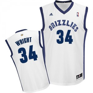 Maillot NBA Memphis Grizzlies #34 Brandan Wright Blanc Adidas Swingman Home - Homme
