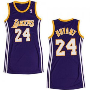 Maillot NBA Los Angeles Lakers #24 Kobe Bryant Violet Adidas Authentic Dress - Femme