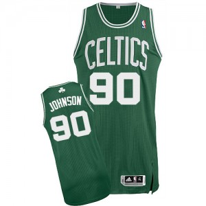 Maillot NBA Authentic Amir Johnson #90 Boston Celtics Road Vert (No Blanc) - Homme