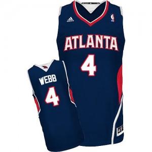 Maillot Adidas Bleu marin Road Swingman Atlanta Hawks - Spud Webb #4 - Homme