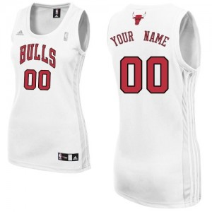 Maillot Chicago Bulls NBA Home Blanc - Personnalisé Authentic - Femme