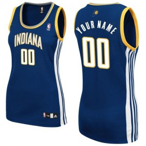 Maillot Indiana Pacers NBA Road Bleu marin - Personnalisé Authentic - Femme