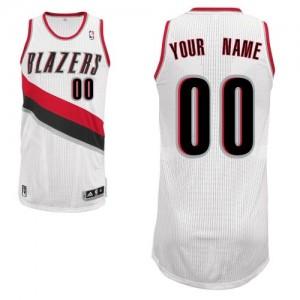 Portland Trail Blazers Authentic Personnalisé Home Maillot d'équipe de NBA - Blanc pour Enfants