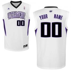 Sacramento Kings Personnalisé Adidas Home Blanc Maillot d'équipe de NBA Braderie - Swingman pour Enfants