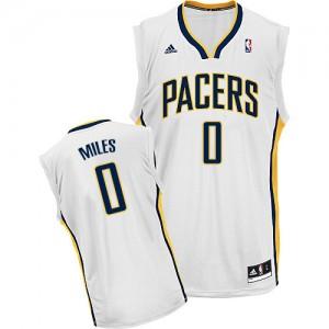 Indiana Pacers #0 Adidas Home Blanc Swingman Maillot d'équipe de NBA pas cher - C.J. Miles pour Homme