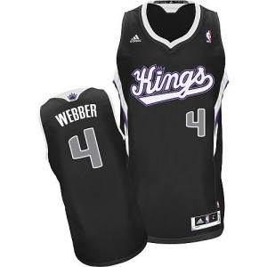 Maillot Swingman Sacramento Kings NBA Alternate Noir - #4 Chris Webber - Homme