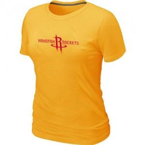 Tee-Shirt NBA Houston Rockets Jaune Big & Tall - Femme