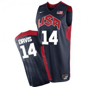 Team USA Nike Anthony Davis #14 2012 Olympics Authentic Maillot d'équipe de NBA - Bleu marin pour Homme