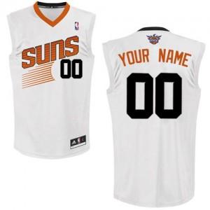 Maillot NBA Authentic Personnalisé Phoenix Suns Home Blanc - Homme