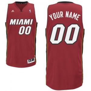 Maillot NBA Miami Heat Personnalisé Swingman Rouge Adidas Alternate - Enfants