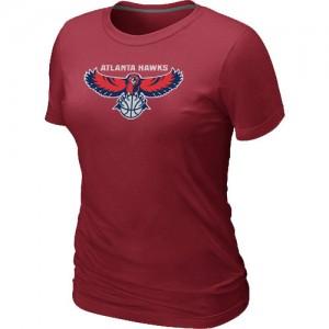 Atlanta Hawks Big & Tall Tee-Shirt d'équipe de NBA - Rouge pour Femme