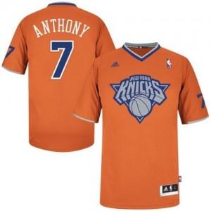 New York Knicks #7 Adidas 2013 Christmas Day Orange Swingman Maillot d'équipe de NBA Braderie - Carmelo Anthony pour Homme