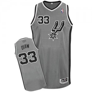 Maillot NBA Gris argenté Boris Diaw #33 San Antonio Spurs Alternate Authentic Homme Adidas