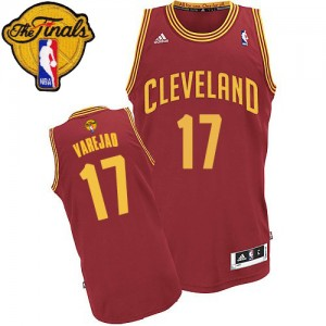 Maillot Swingman Cleveland Cavaliers NBA Road 2015 The Finals Patch Vin Rouge - #17 Anderson Varejao - Homme