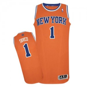 Maillot NBA Authentic Alexey Shved #1 New York Knicks Alternate Orange - Homme