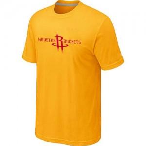 Houston Rockets Big & Tall Tee-Shirt d'équipe de NBA - Jaune pour Homme