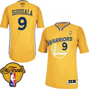 Maillot Adidas Or Alternate 2015 The Finals Patch Authentic Golden State Warriors - Andre Iguodala #9 - Homme