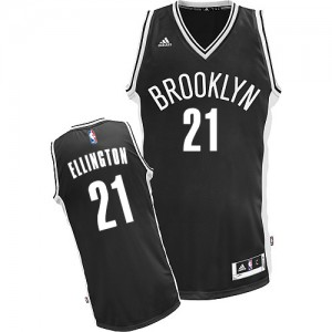 Maillot NBA Noir Wayne Ellington #21 Brooklyn Nets Road Swingman Homme Adidas