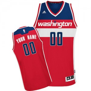 Maillot NBA Washington Wizards Personnalisé Swingman Rouge Adidas Road - Homme