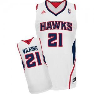 Maillot Swingman Atlanta Hawks NBA Home Blanc - #21 Dominique Wilkins - Homme