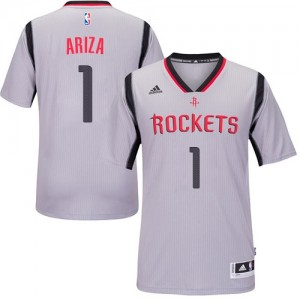 Maillot Adidas Gris Alternate Authentic Houston Rockets - Trevor Ariza #1 - Homme