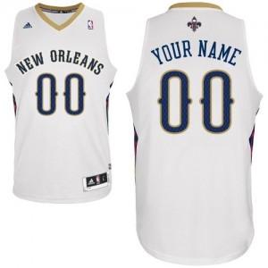 New Orleans Pelicans Personnalisé Adidas Home Blanc Maillot d'équipe de NBA Peu co?teux - Swingman pour Enfants