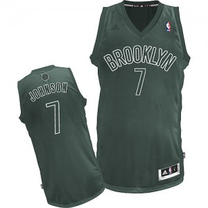 Brooklyn Nets #7 Adidas Big Color Fashion Gris Swingman Maillot d'équipe de NBA achats en ligne - Joe Johnson pour Homme