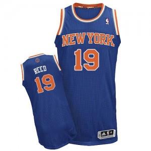 Maillot NBA New York Knicks #19 Willis Reed Bleu royal Adidas Authentic Road - Homme