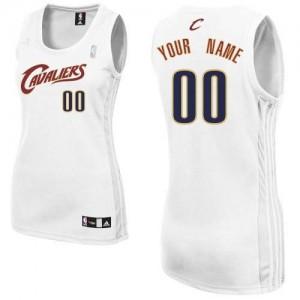Maillot Cleveland Cavaliers NBA Home Blanc - Personnalisé Authentic - Femme