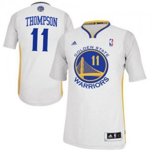 Maillot NBA Swingman Klay Thompson #11 Golden State Warriors Alternate Blanc - Homme