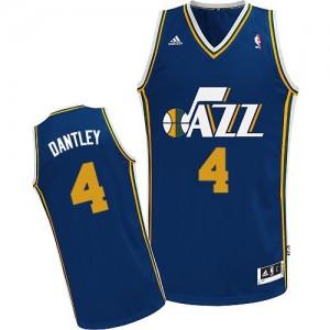 Utah Jazz Adrian Dantley #4 Road Swingman Maillot d'équipe de NBA - Bleu marin pour Homme