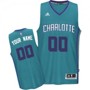 Maillot NBA Bleu clair Authentic Personnalisé Charlotte Hornets Road Homme Adidas