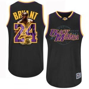 Los Angeles Lakers #24 Adidas Notorious Noir Authentic Maillot d'équipe de NBA en soldes - Kobe Bryant pour Homme