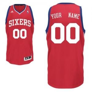 Maillot Adidas Rouge Road Philadelphia 76ers - Swingman Personnalisé - Homme