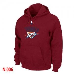 Oklahoma City Thunder Rouge Sweat à capuche d'équipe de NBA Discount - pour Homme