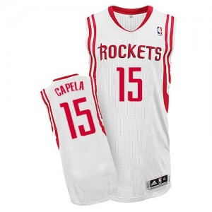 Maillot NBA Blanc Clint Capela #15 Houston Rockets Home Authentic Homme Adidas