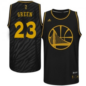 Maillot Adidas Noir Precious Metals Fashion Swingman Golden State Warriors - Draymond Green #23 - Homme