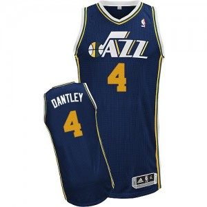 Maillot Authentic Utah Jazz NBA Road Bleu marin - #4 Adrian Dantley - Homme