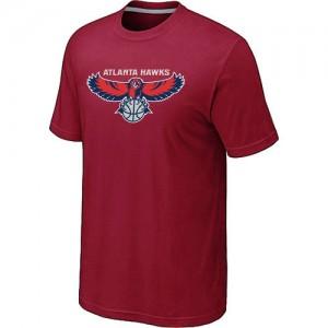 T-shirt principal de logo Atlanta Hawks NBA Big & Tall Rouge - Homme