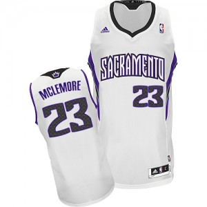 Maillot NBA Blanc Ben McLemore #23 Sacramento Kings Home Swingman Homme Adidas