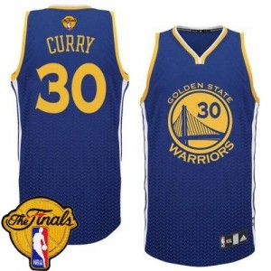 Golden State Warriors #30 Adidas Resonate Fashion 2015 The Finals Patch Bleu Authentic Maillot d'équipe de NBA en soldes - Stephen Curry pour Homme