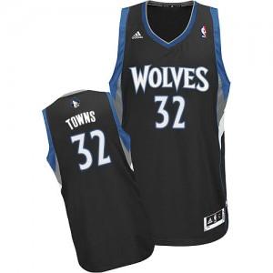 Maillot NBA Swingman Karl-Anthony Towns #32 Minnesota Timberwolves Alternate Noir - Homme
